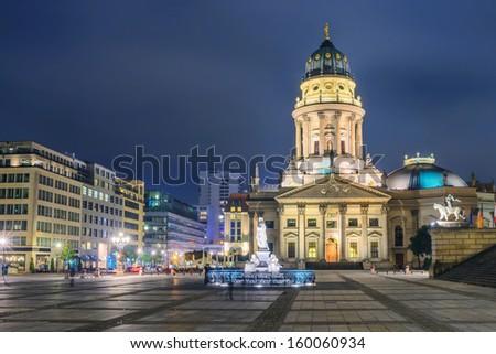 German Cathedral on Gendarmenmarkt  - stock photo