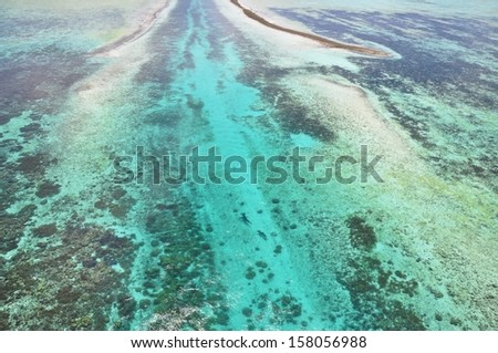 German Channel in Palau - stock photo