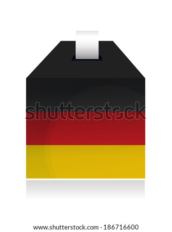 german election box. illustration design over a white background - stock photo