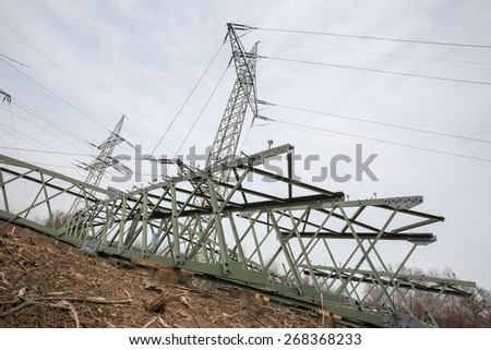 german electricity pylon building