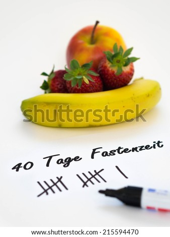 german: fasting with fruits - stock photo