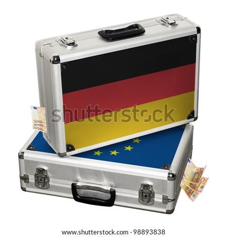 German financial crisis or German financial help. - stock photo