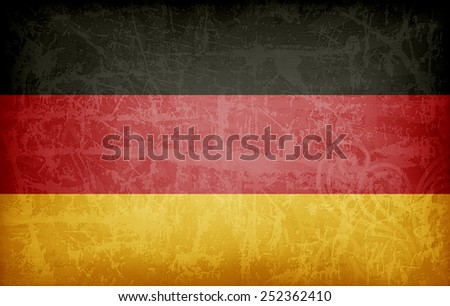 German flag - stock photo