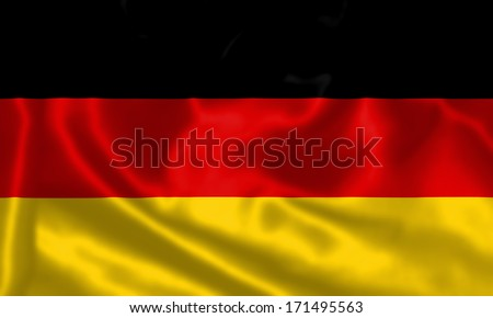 German Flag flying in the wind.