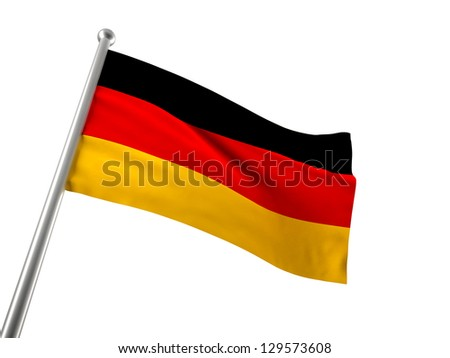 german flag isolated on white background