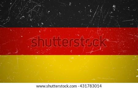 German flag with grunge texture. Raster version - stock photo