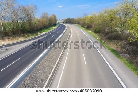 German freeway  - stock photo