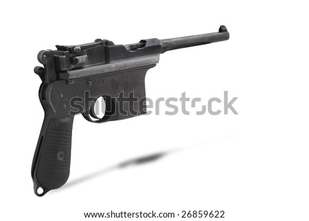 "German gun ""Mauser C96"",  was originally manufactured in Germany from 1896 - 1937."