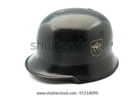 German Helmet of WWII on white background - stock photo