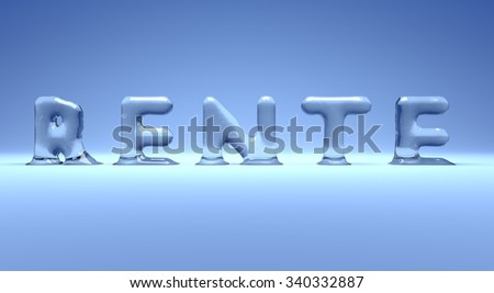 German icy pension word on a blue background, 3d concept