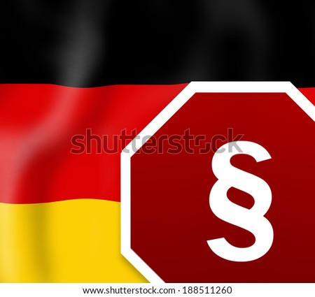 German Law Sign - stock photo