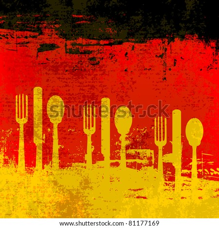 German Menu template over a flag of Germany - stock photo