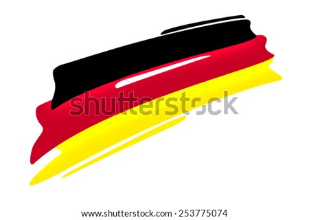 german national flag illustration on white background,  - stock photo