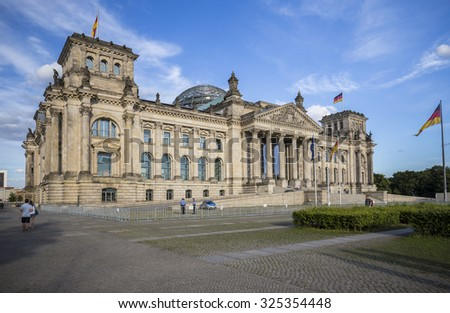 German parliament (Reichstag) building in Berlin, Germany - stock photo