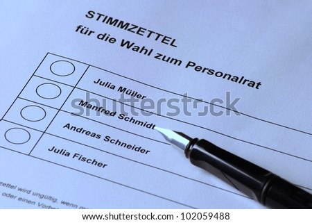 German personnel govermental election