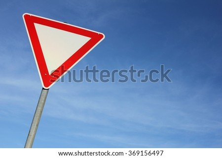 German road sign: give way