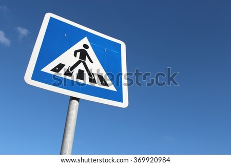 German road sign: pedestrian crossing