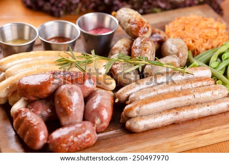 German sausages - stock photo
