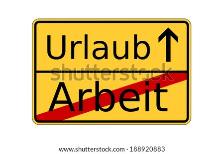 german sign holiday