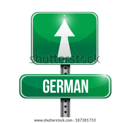 german signpost illustration design over a white background