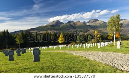 German war cemetery in Slovakia - stock photo
