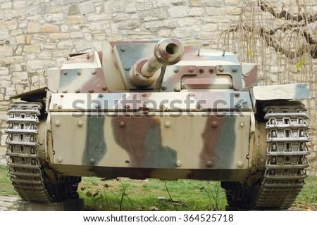 German WWI tank  - stock photo