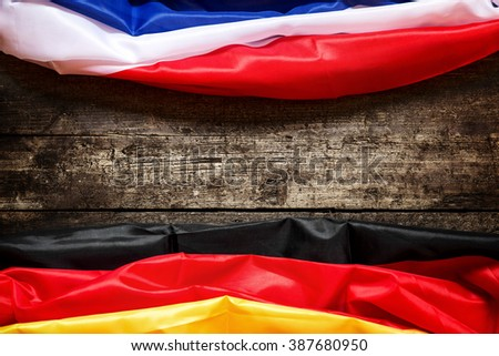 Germany and France Flag, Concept Coalition, Europe and Business