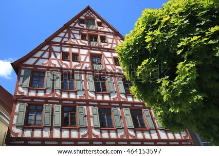 Germany, Bavaria, Riedlingen, 2016/05/26, a town in Bavaria