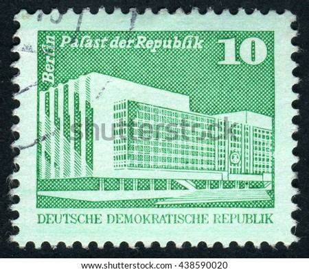 GERMANY - CIRCA 1973: A stamp printed by Germany, shows Berlin, Europe, circa 1973 - stock photo