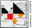 GERMANY - CIRCA 2002: A stamp printed in German Federal Republic honoring 	50th Anniversary of Federal Agency for Civic Education, shows Arrows, circa 2002 - stock photo