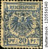 GERMANY - CIRCA 1884: A stamp printed in Germany shows coat of arms of Germany, circa 1984 - stock photo