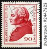 GERMANY - CIRCA 1974: a stamp printed in the Germany shows Immanuel Kant, philosopher, circa 1974 - stock photo