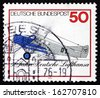 GERMANY - CIRCA 1976: a stamp printed in the Germany shows Junkers F 13,1926, Lufthansa, 50th Anniversary, circa 1976 - stock photo