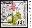GERMANY - CIRCA 1981: a stamp printed in the Germany shows Water Gillyflower, Hottonia Palustris, Endangered Species, circa 1981 - stock photo