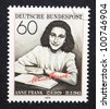 GERMANY  CIRCA 1979: postage stamp printed in Germany showing an image of Anne Frank, circa 1979. - stock photo