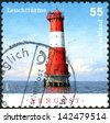 GERMANY - CIRCA 2011: Postage stamps printed in Germany, shows lighthouse Arngast, circa 2011 - stock photo