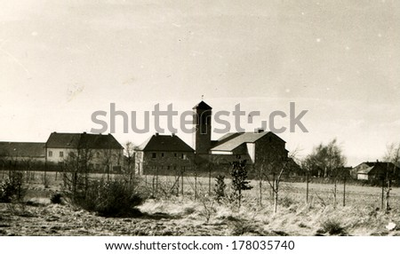 GERMANY - CIRCA 1950s: An antique photo of german village