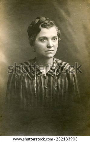GERMANY, CIRCA 1930: Vintage photo of woman