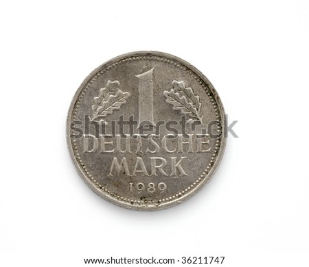 Germany coin, isolated on a white background