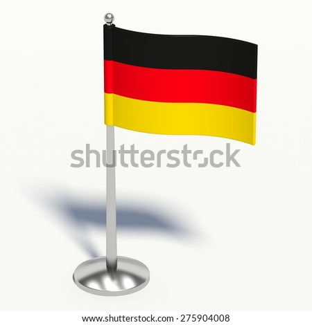 Germany 3d illustration on a white background. - stock photo