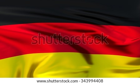 Germany Flag. 3d illustration