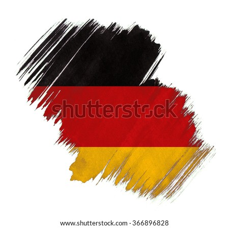 Germany flag grunge stain - stock photo