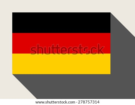 Germany flag in flat web design style. - stock photo