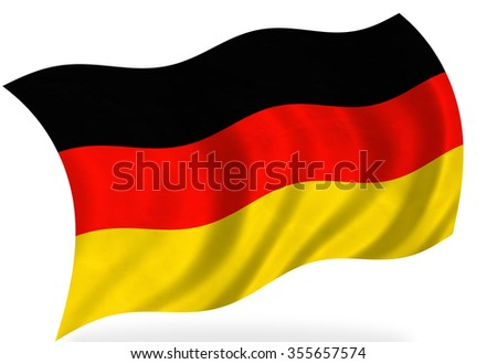 Germany flag, isolated