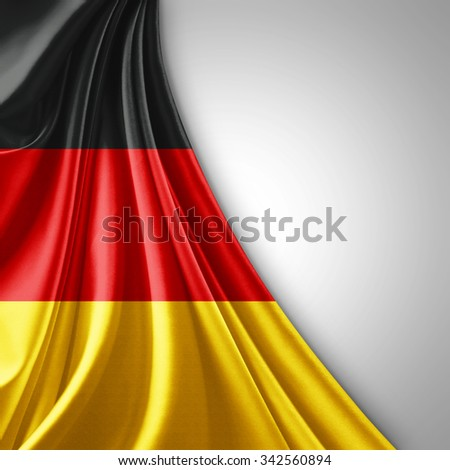Germany flag of silk  with copyspace for your text or images   - stock photo
