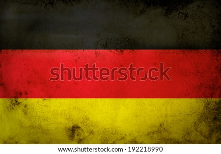 Germany flag on grunge paper  - stock photo