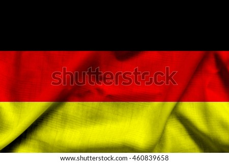 Germany flag on wave