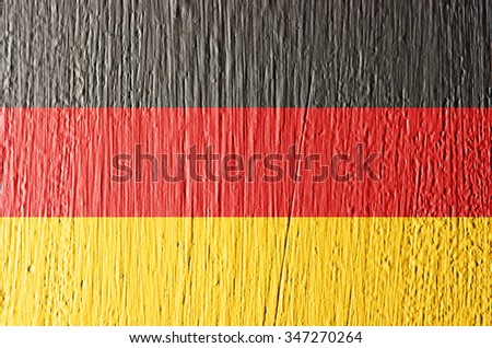 Germany flag painted on wall, texture background.