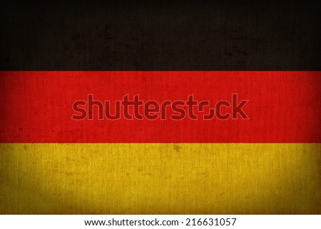 Germany flag pattern on the fabric texture ,retro vintage style