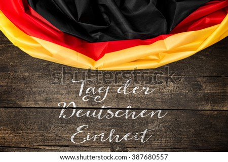Germany Flag with german Text for the german unity day on 3th october